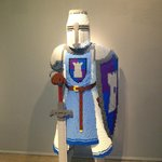 A Knight made out of LEGO'S