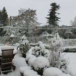 Snow on the terrace