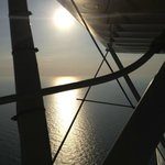 "Sunset off the wing of ""Conch 1"" Waco Bi-plane 3-22-13"