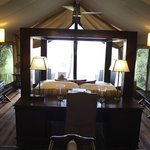 Luxury room looking out on the Mara