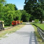 Workman Cars on Rail Trail