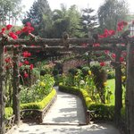 Beautiful gardens at entrance