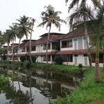 Hotel view on the backwater