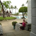 Poolside view at Chiva Som
