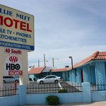  Front of motel with sign