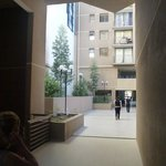  Courtyard area between three big apartment blocks