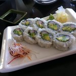 California roll at sushi bar