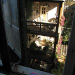 View on to the quiet backyard from the fourth floor
