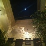 moon over the roof terrace