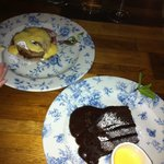  Dessert : Jam Roly Poly and Chocolate Cake
