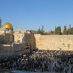 Western Wall with the Dome of the Rock in the background