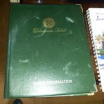  Guest information book covered with cup rings.