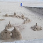 sand sculpture on the coast