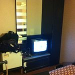  Room view (TV, water machine, fridge)