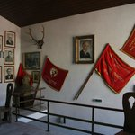 Hotel restaurant's decoration - looks like communism museum