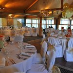The function room set up for our wedding meal