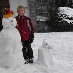  Joseph and Mr Bell snowman