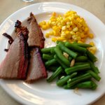 Bob's smoked brisket with veggies