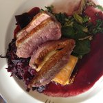 Pan fried duck /w dauphinoise pots