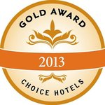 Choice Hotels Gold Award 2013 Winner