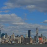  Photo of the Manhattan skyline taken from the hotel parking lot.