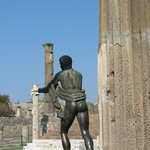 Temple of Apollo in Pompeii - statue of Apollo