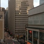  View of Michigan Avenue from our room