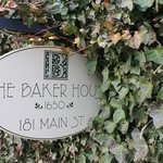 The Baker House sign