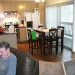 Looking toward the kitchen/dining area from the living room