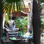  The Buddha, from the restaurant, with a view to the entrance