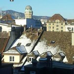  View of Zurich from the room window