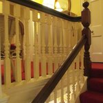 Gorgeous banister of staircase to second floor