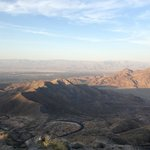  The view from the first lookout (Palm Desert side)