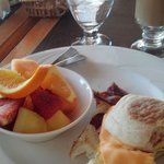 Breakfast at Lake Cafe...so good I took a bite before I took a picture