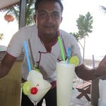 Frozen Margarita and Pina Colada smoothies with wonderful service - what more could you want