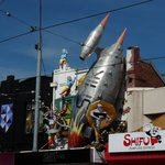  A passing spaceship crashed into this hairdressers in Acland St