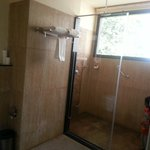 Almost open to air shower area
