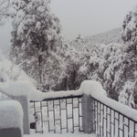 Snow in resort surroundings