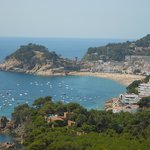  Tossa de Mar, gezien vanaf de weg naar Sant Feliu