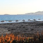  Beach view of Naxos City at sunrise