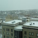  View from 9th Floor of Ithaca, it SNOWED!