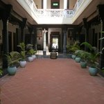 central courtyard of the hotel
