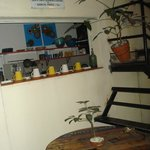  Dining area and kitchen (I did not set up the cups =)