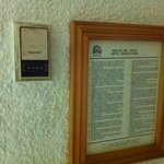 Old thermostat and rules of the hotel