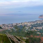 View out over Sorrento and sea, Vesuvio