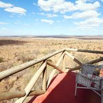 Private deck with amazing views of Tarangire