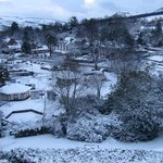  View from our bedroom window onto the village square