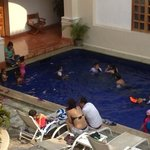  This is what this &quot;boutique&quot; hotel is really about... 15+ kids in a 6 by 4 mts pool... don&#39;t com
