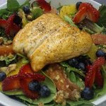 Salmon Berry Citrus Walnut Salad :)