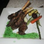  Lamb Chops (very tasty and juicy).